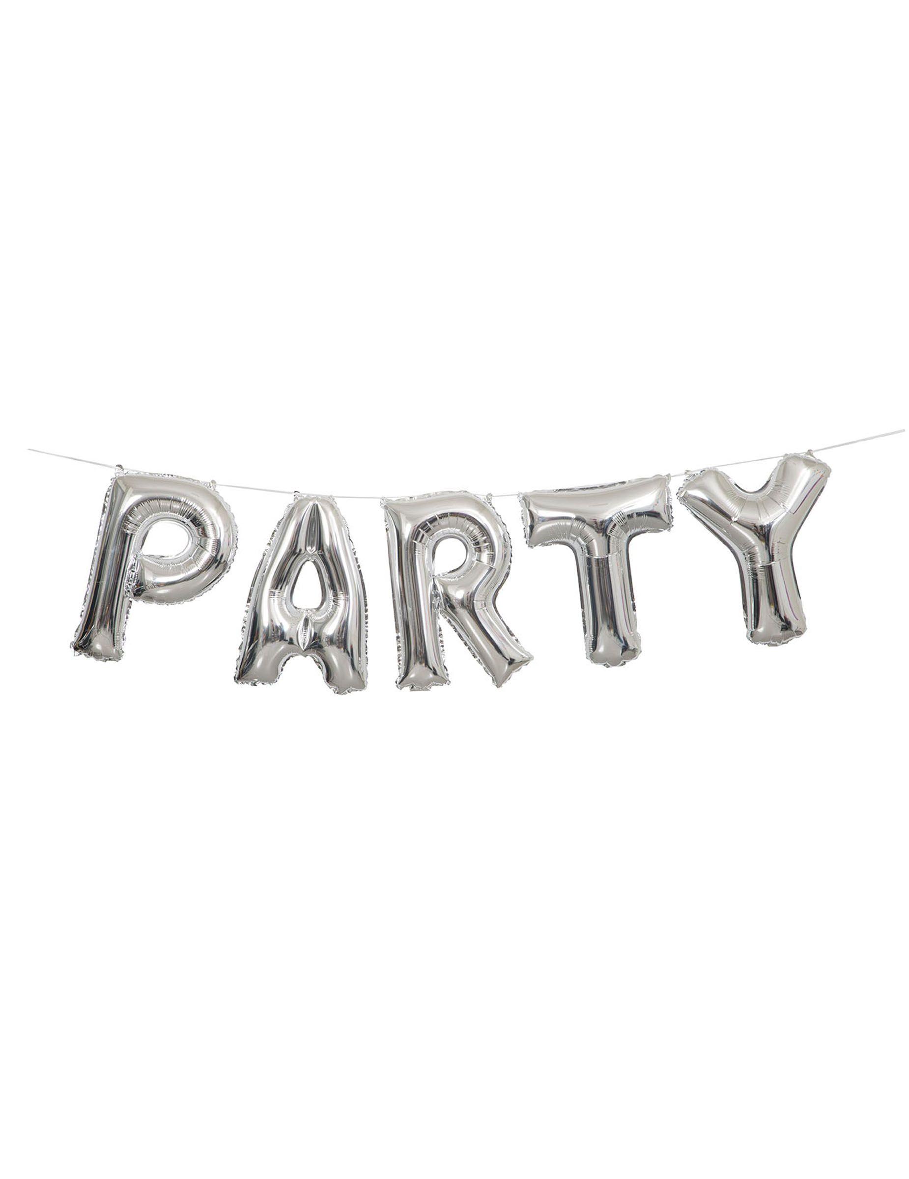 Palloncino alluminio Party argento | Compleanno Donuts & Cupcakes