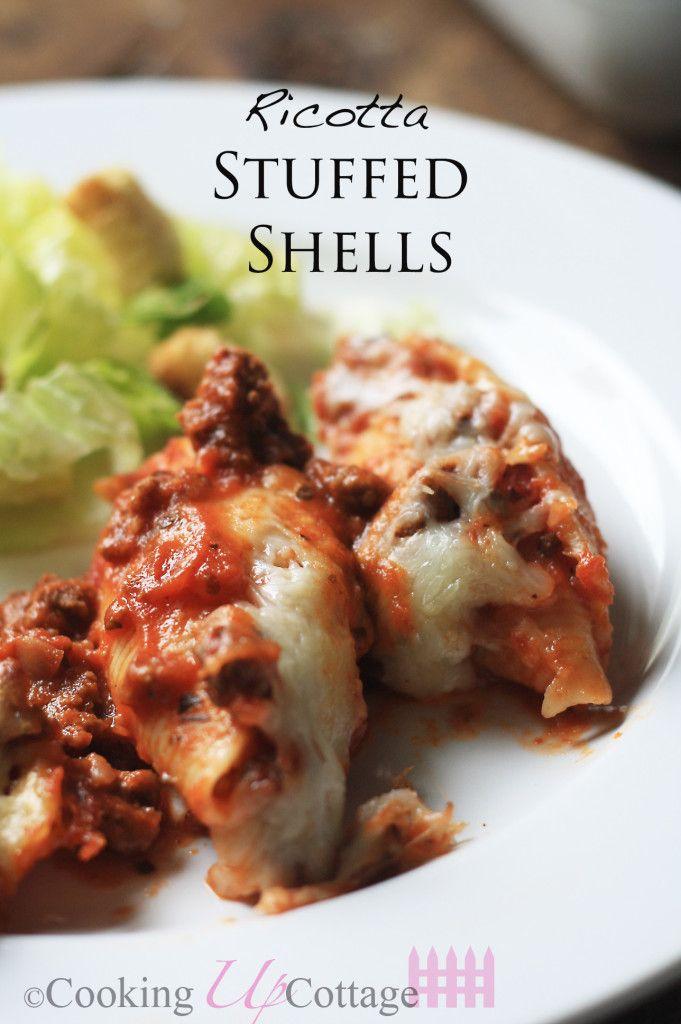 Ricotta Stuffed Shells Recipe Stuffed Shells Ricotta Stuffed Shells Recipe Food