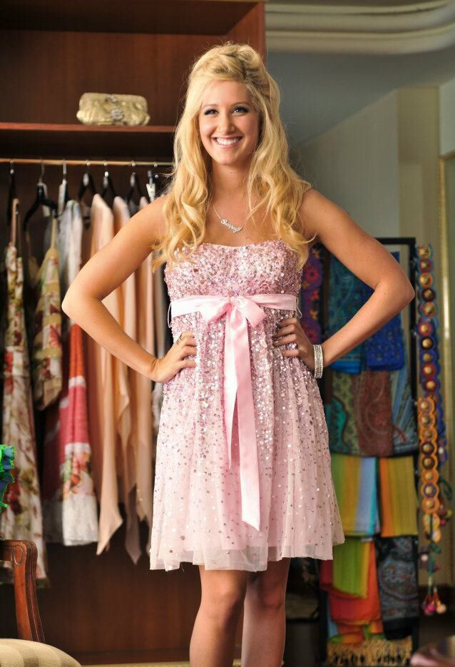 263bf0990 Sharpay Evans sparkly pink dress High School Musical