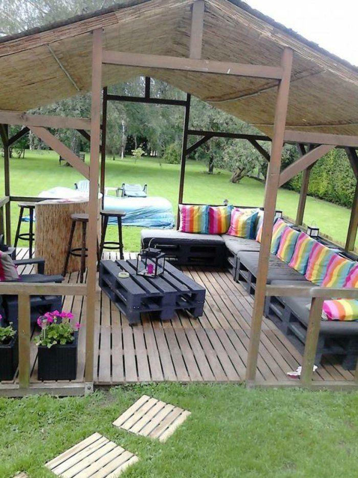 les meilleures id es pour la terrasse en palette to see and pinterest jardins palette. Black Bedroom Furniture Sets. Home Design Ideas