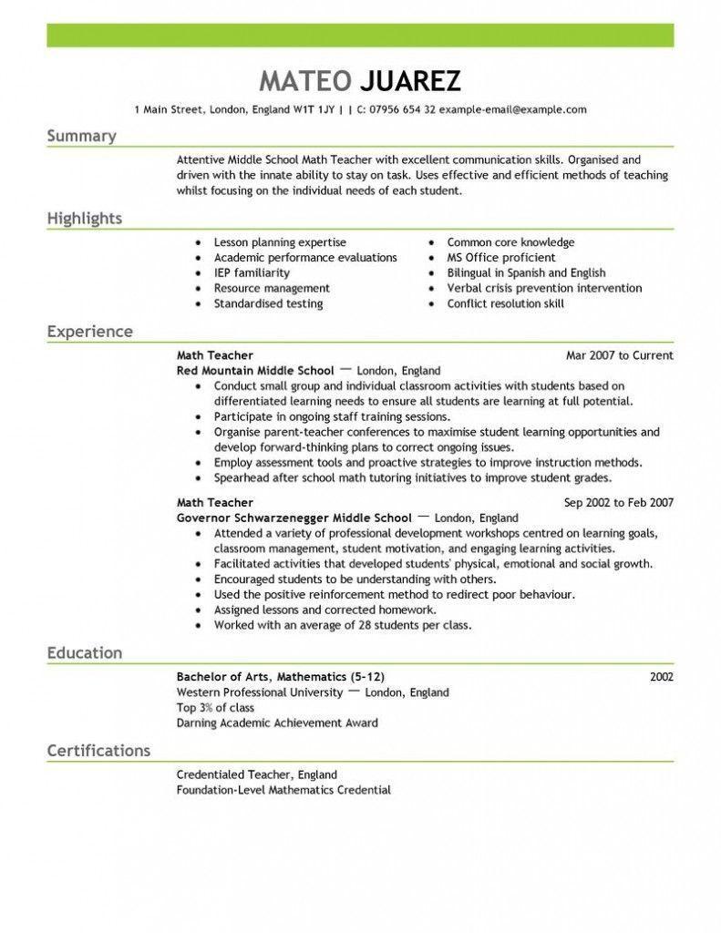 Resume Examples Of Education , #ResumeExamples ...
