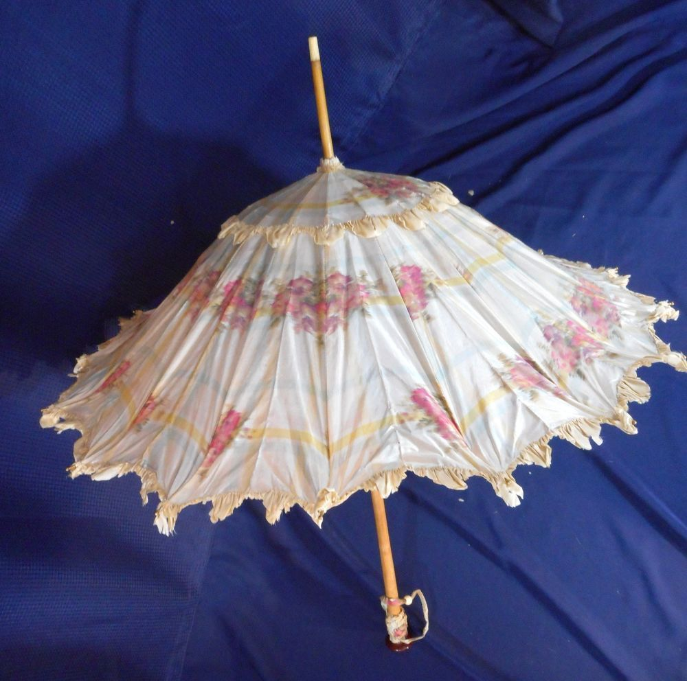 Antique Pink Beige Silk Taffeta Print Pagoda shape ...