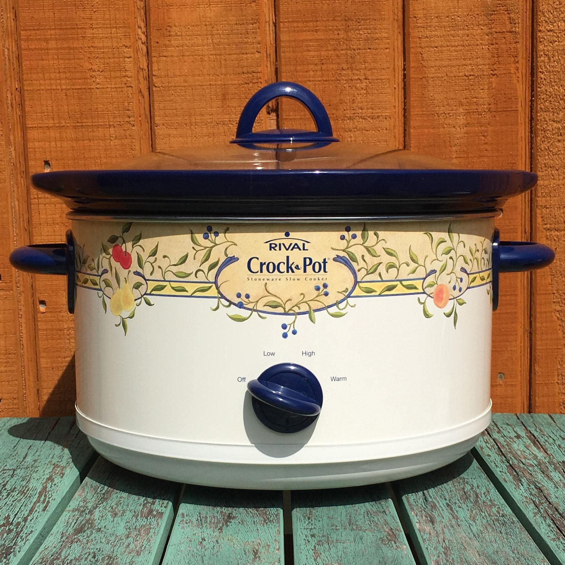 Fruit Design Crockpot Crock