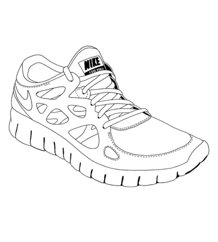 Running Shoes Coloriage