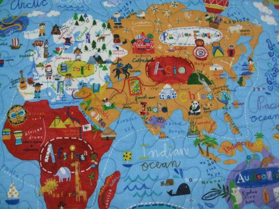 World map educational quilt for wall or play sieberdesigns 60 world map educational quilt for wall or play sieberdesigns 60 gumiabroncs Gallery