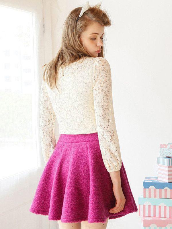 rosie circle skirt $48 #asianicandy #sweet #asianfashion #japanese #kawaii #indiefashion #lace