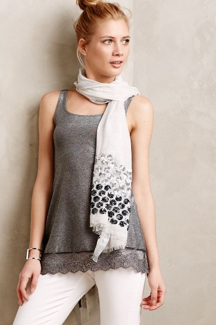 Sparkled Lace Layering Tank - anthropologie.com #anthrofave