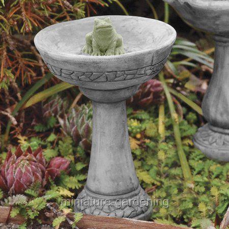 Buy Georgetown Home U0026 Garden Miniature Fairy Garden Frog Birdbath At  Walmart.