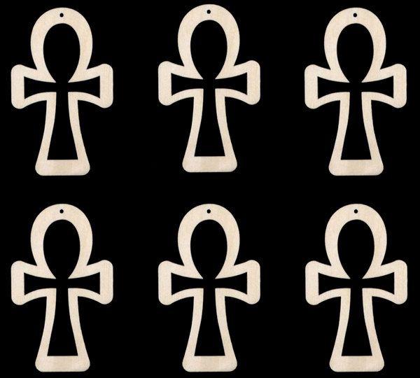 Outline Ankh Shape Africa Egyptian Symbol For Life Natural Craft