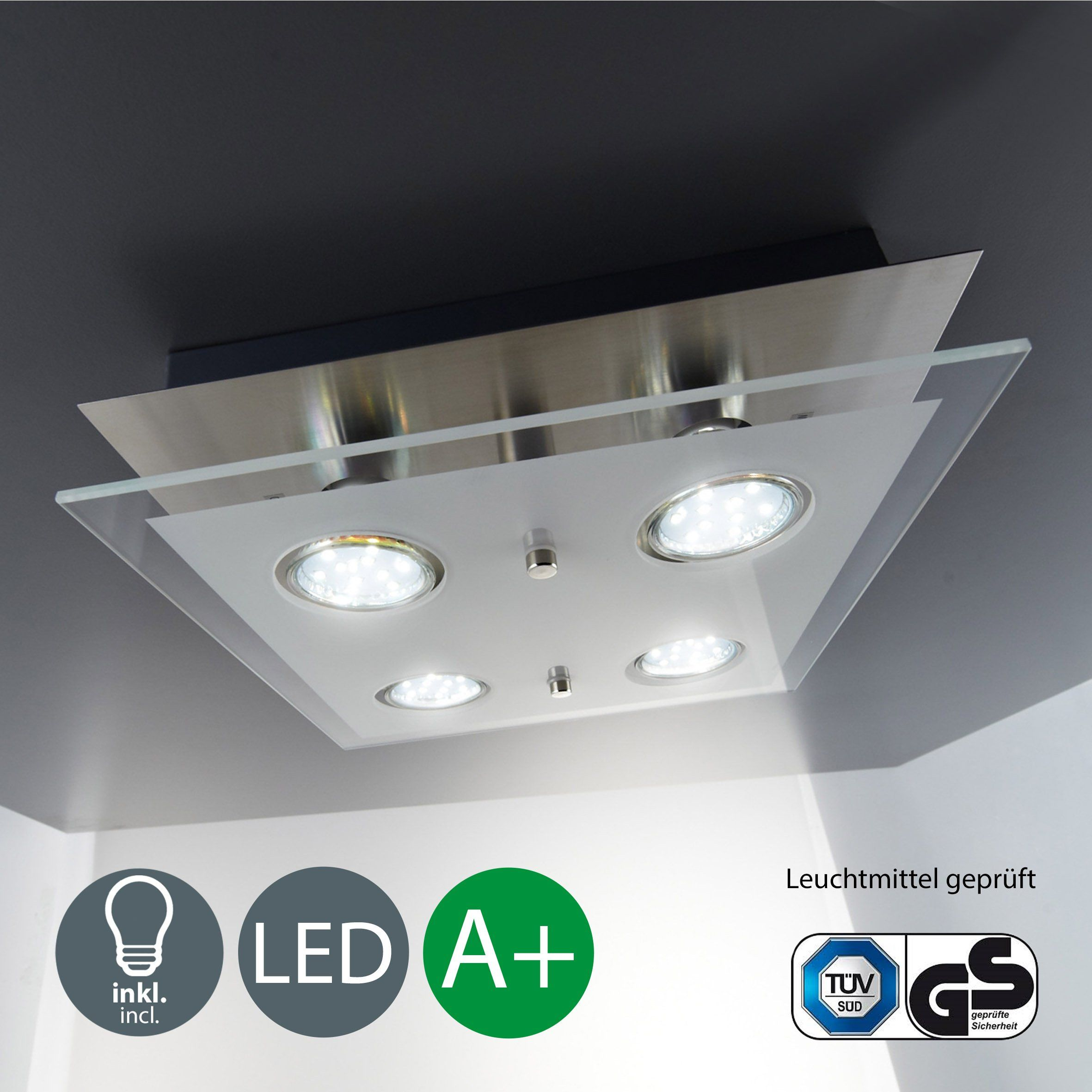 B K Licht Lampara De Techo Led Gu10 3 W 250 Lumenes Orientable