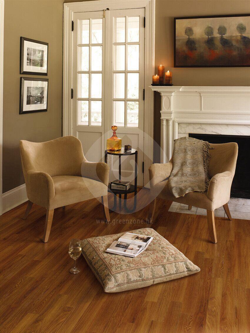 villa & house nontoxic wood grain vinyl floor Luxury