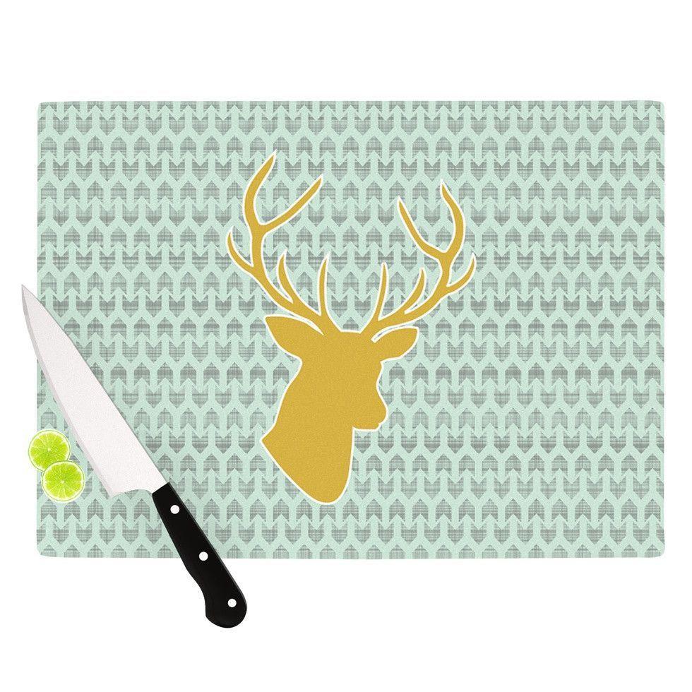 Golden Deer by Pellerina Design Cutting Board