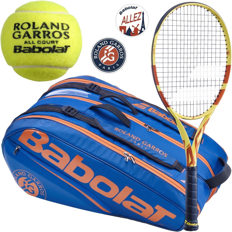 Babolat Roland Garros Pure Aero Racquet Pack W Rhx12 Dampeners Rg All Court Balls 341 95 Racquets Tennis Balls Babolat Tennis