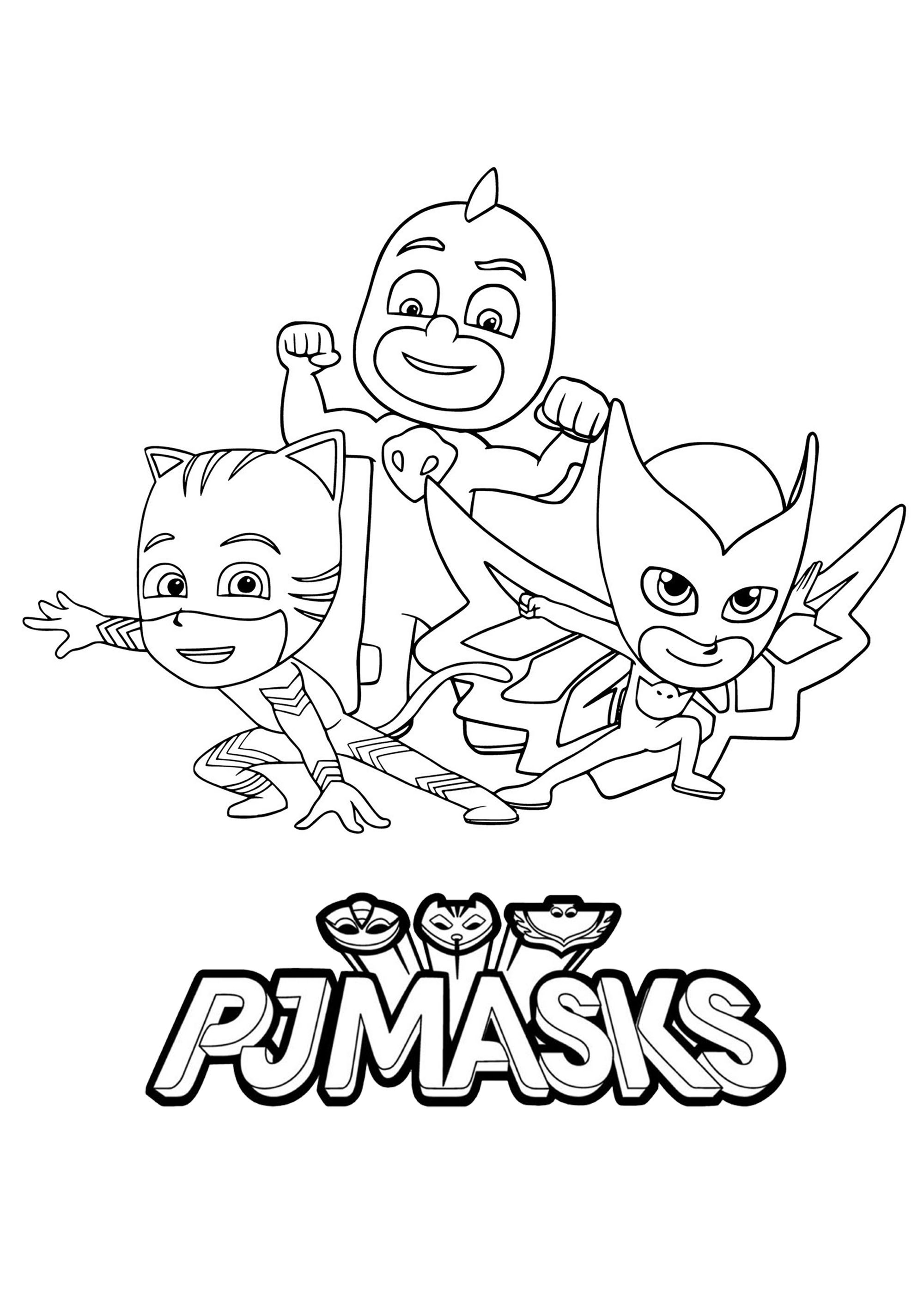 Pj Masks To Color For Children Pj Masks Coloring Pages For Kids