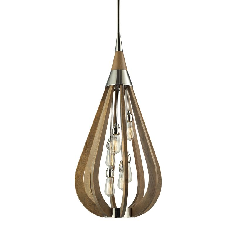 Suspension poire bois d co luminaire luminaire for Suspension bois luminaire