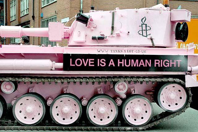 UK Indymedia   The Amnesty International Pink Tank 'On Patrol'