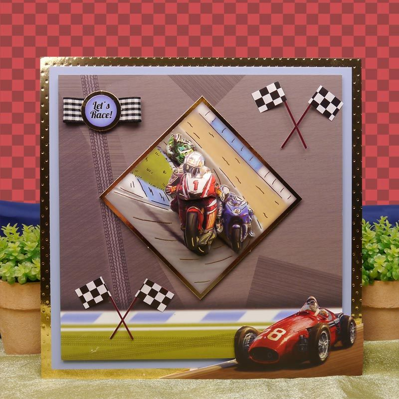 Sports leisure time by hunkydory crafts card made using start sports leisure time by hunkydory crafts card made using start your engines ready steady go sciox Choice Image