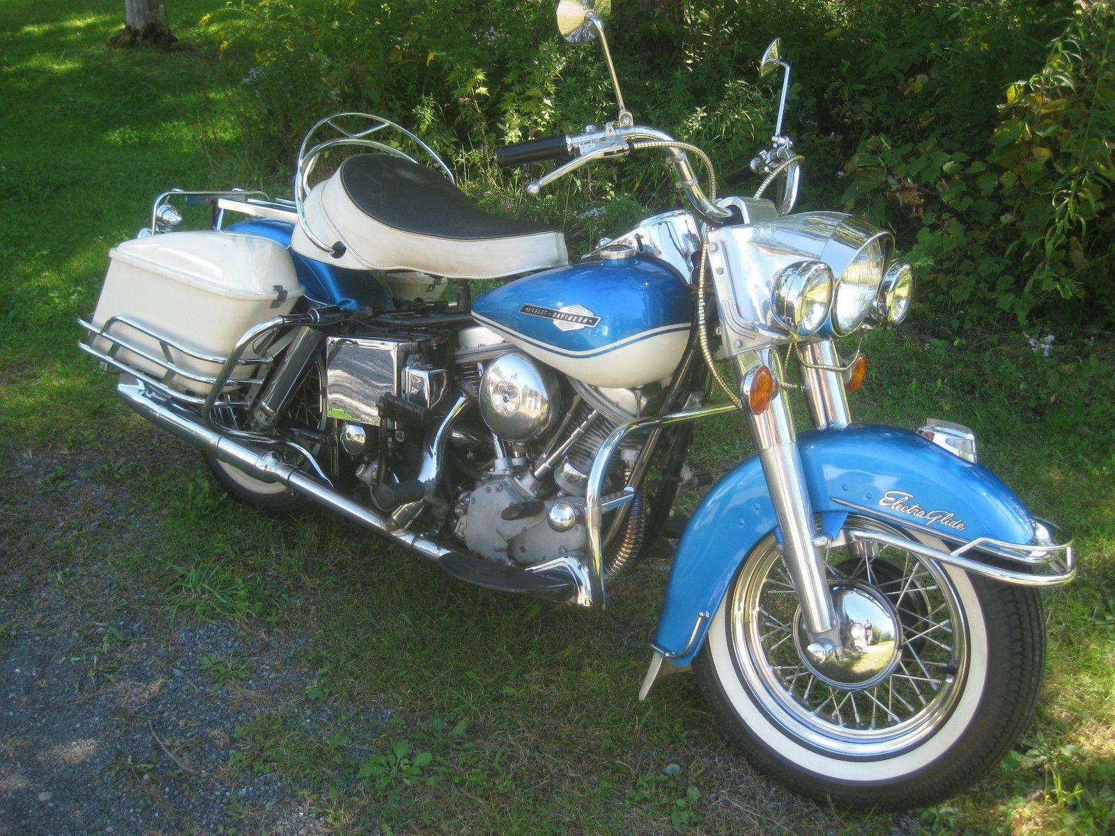 Harley Davidson Touring 1965 Harley Davidson Flh Panhead Electra Glide Original Paint Motos Harley Motos Antiguas Harley