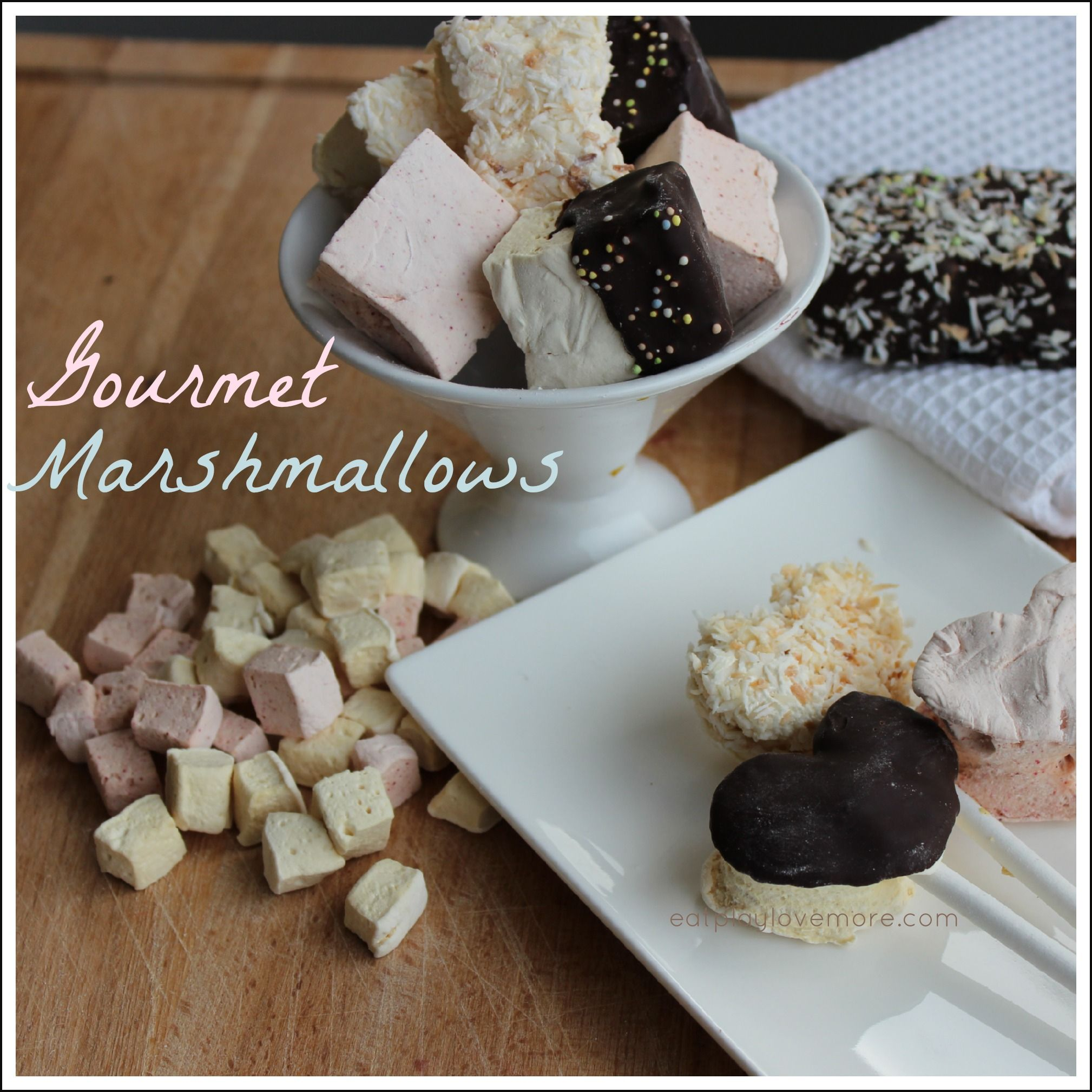 As a real foodie, sometimes you have to let some 'food' from your former life go. I am happy to report that THIS is not one of those times! All together now: marshmallows! marshmallows! marshmallows! YAY! These little soft, squishy, melt in your mouth chunks of heaven make great additions to your homemade hot chocolate… #healthymarshmallows