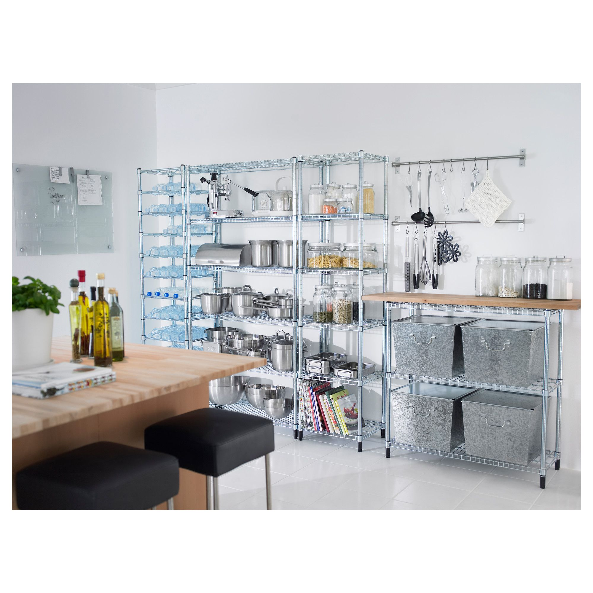 Ikea Omar industrial modern kitchen storage unit | kitchen ...