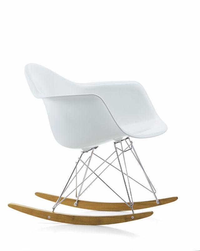 Vitra Eames RAR Plastic Rocking Chair In White