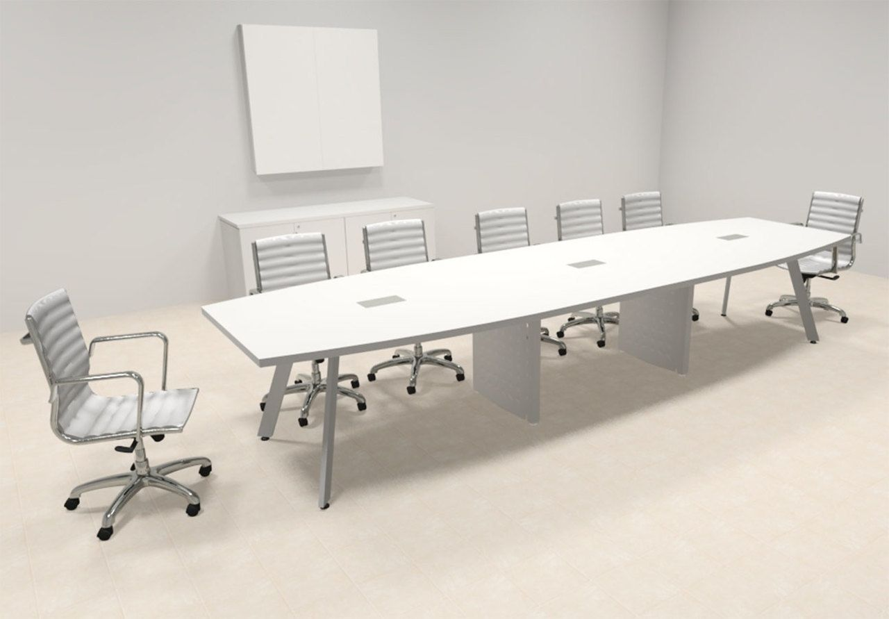 Modern Boat Shaped Feet Conference Table OFCONCV Modern - 14 foot conference table