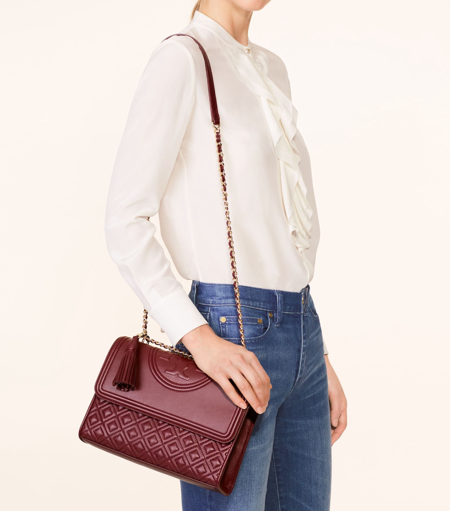 fc8f6dc2746 TORY BURCH Fleming Convertible Shoulder Bag.  toryburch  bags  shoulder bags   leather