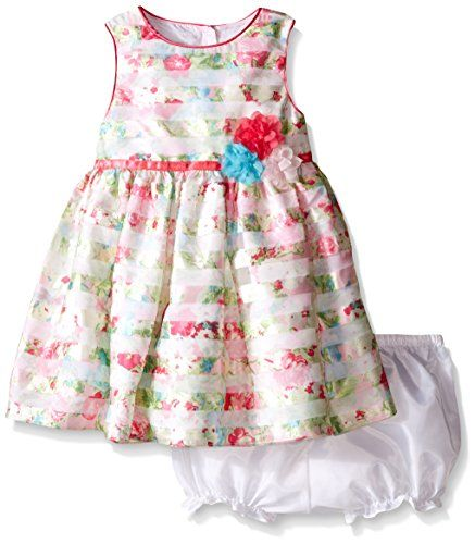 fc7f8c703c173 Marmellata Baby Floral Striped Party Dress Multi 12 Months *** For more  information, visit image link.