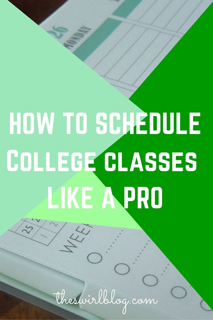 college scheduling