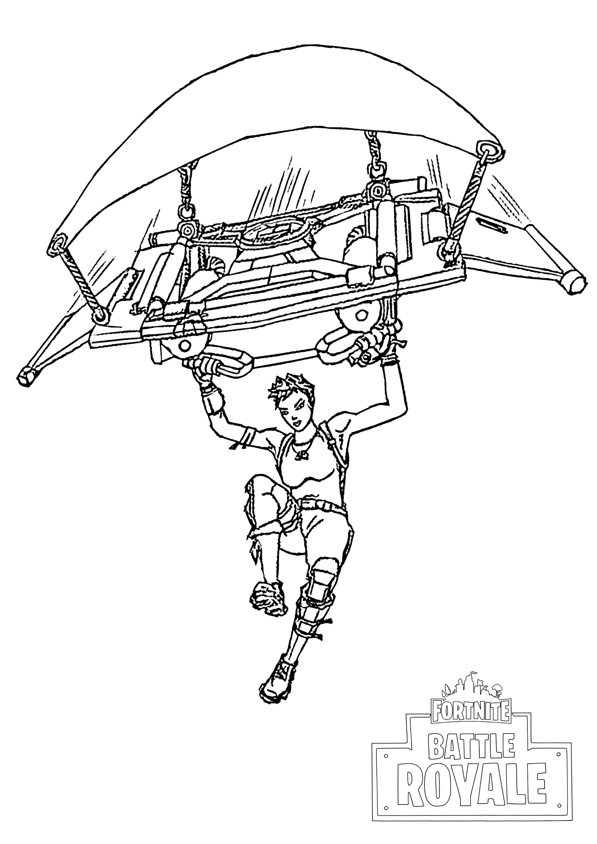 25 Fortnite Battle Bus Coloring Page