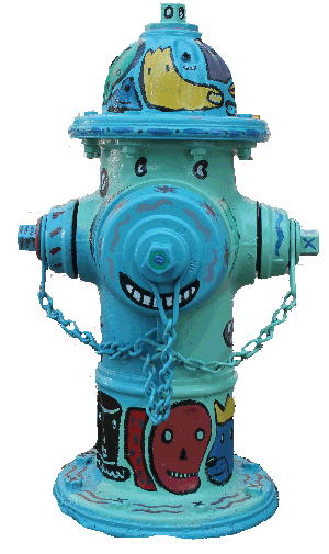 Artist Dan Smith Painted This Hydrant Spontaneous Monsterfication For Athens Ga S Fire Up The Hydrants A Celebration Fire Hydrant Hydrant Fire Equipment