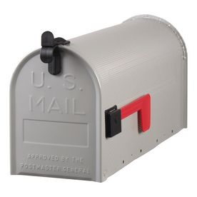 Postmaster 7 In X 9 In Metal Gray Post Mount Mailbox With Images Mounted Mailbox Steel Mailbox Gibraltar Mailboxes