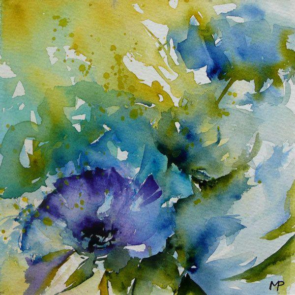 Veronique Piaser Moyen Watercolor France Aquarelle Florale