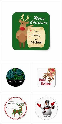 Christmas Stickers #Christmas #zazzle
