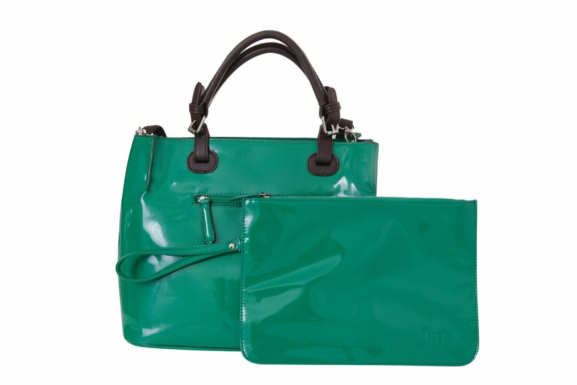 defaa9793f7d27 Louenhide patent Jade Madden bag and Millie clutch www.doubleagent.co.za