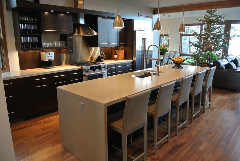 Kitchen Island On Legs hard topix - precast concrete countertop | kitchen island