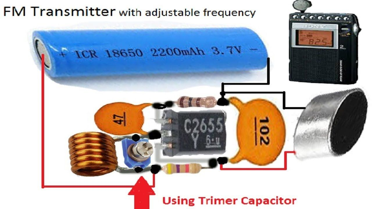 Fm Tansmitter Witrh Adjustable Frequency Electronic Circuit Design Netflix Gift Card Capacitor