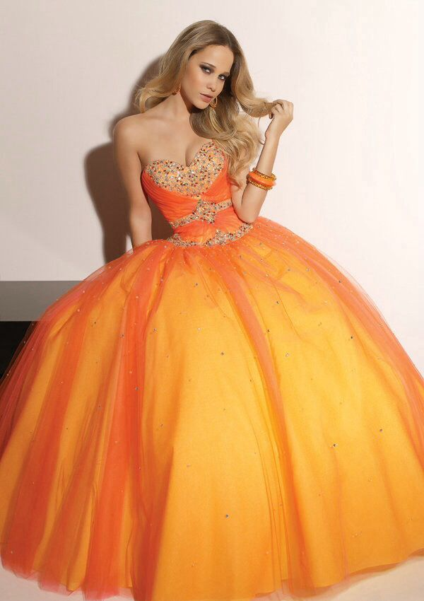 Zipper orange ball gown | Fashion | Pinterest | Ball gowns, Gowns ...