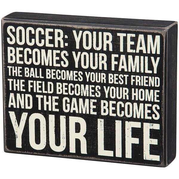 Primitives by Kathy Wood \'Soccer\' Box Sign ($13) ❤ liked on ...