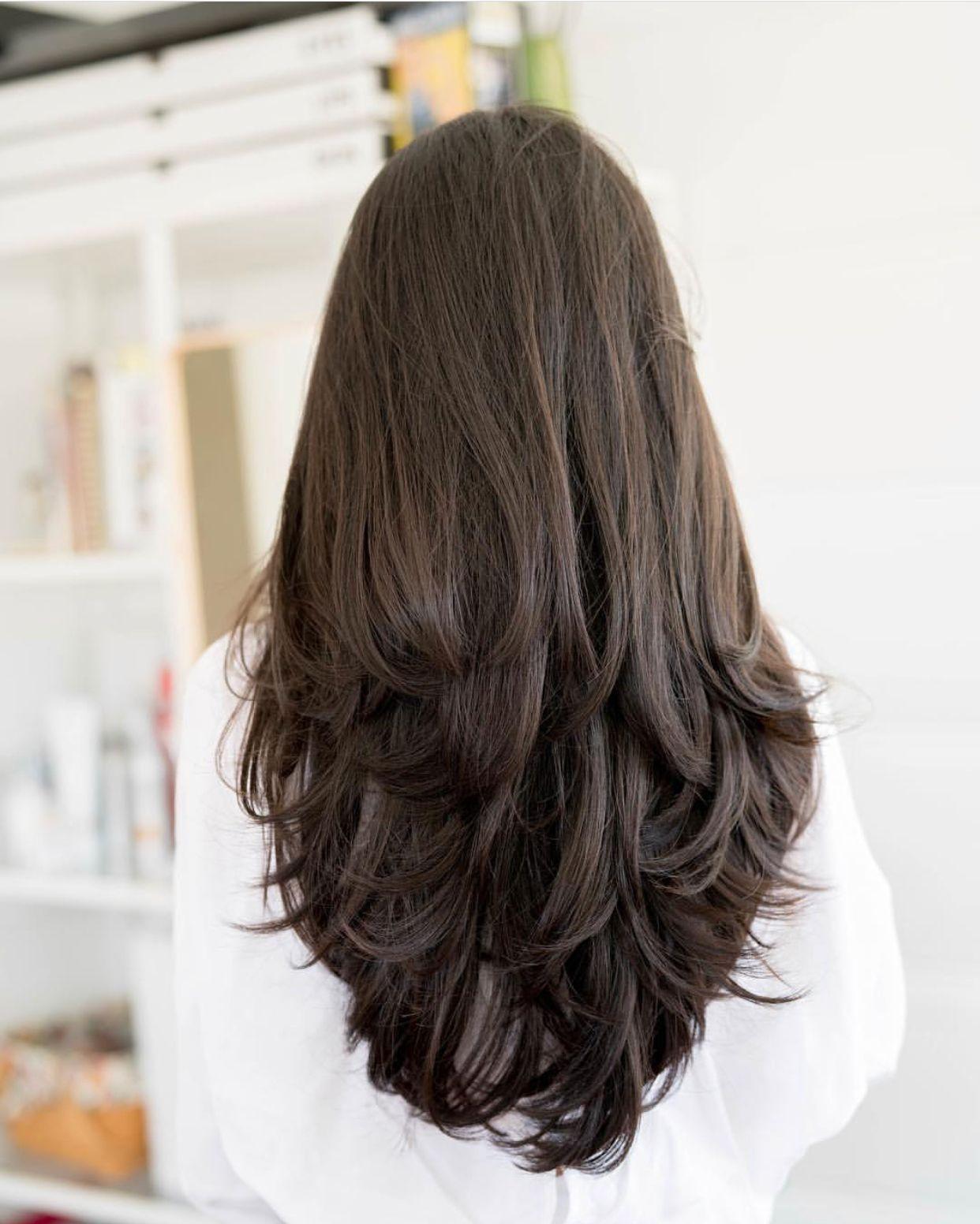 Pin Oleh Judy Di Hair Potongan Rambut Panjang Gaya Rambut Panjang Gaya Rambut