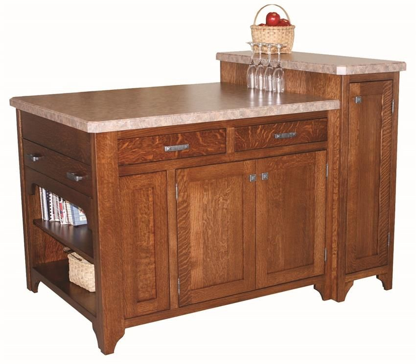 Amish Space Server Kitchen Island Stylish, strong and full ...