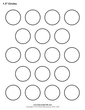 1 inch circle template free - free printable circle templates for creative art projects