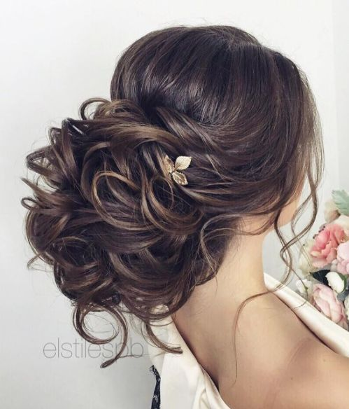 Beautiful Updo Wedding Hairstyle To Inspire You: Voluminous Low Updo Wedding Hairstyle