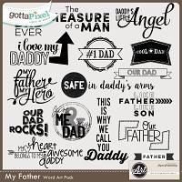 My Father Word Art $2.50