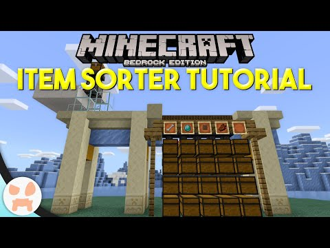 How To Make A Xp Farm In Minecraft Bedrock 3 Minecraft Bedrock Item Sorter Tutorial Easy Automatic Expandable Youtube In 2020