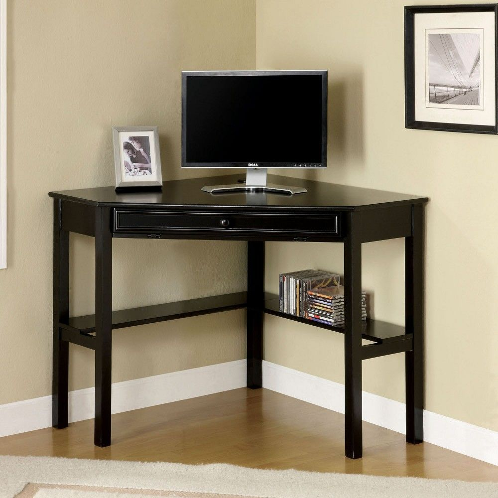 Mibasics Erona Modern Corner Computer Desk Black In 2019