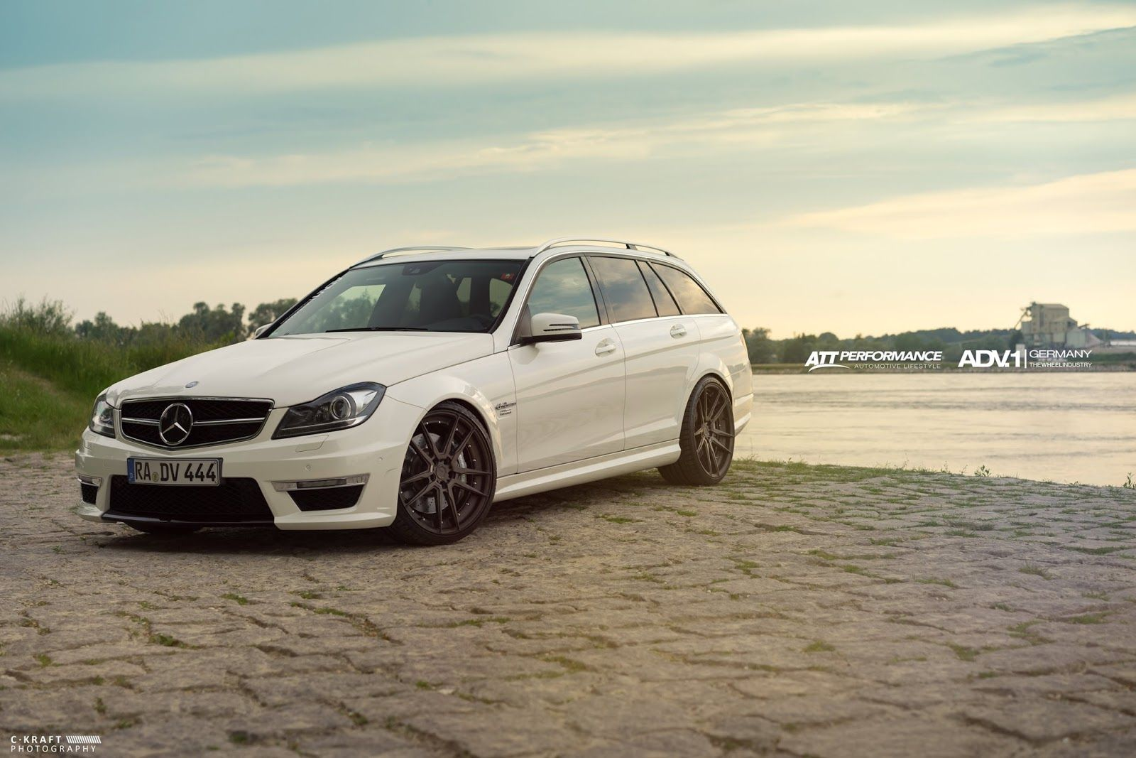 MercedesBenz S204 C63 AMG on ADV5.2 MV2 Wheels Mercedes