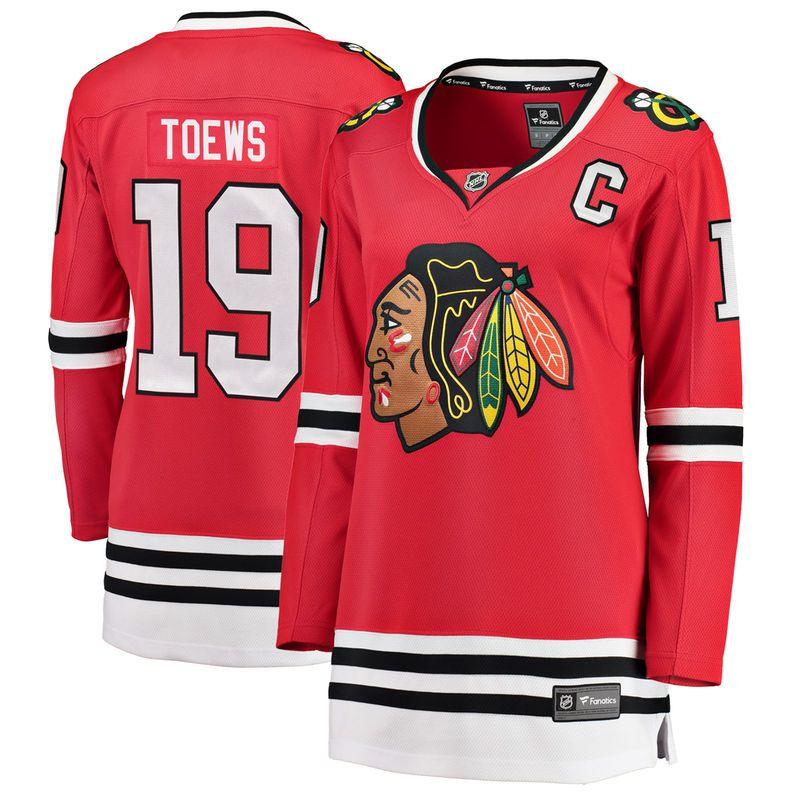 Jonathan Toews Chicago Blackhawks Fanatics Branded Women s Home Breakaway  Player Jersey - Red 82c642f0d
