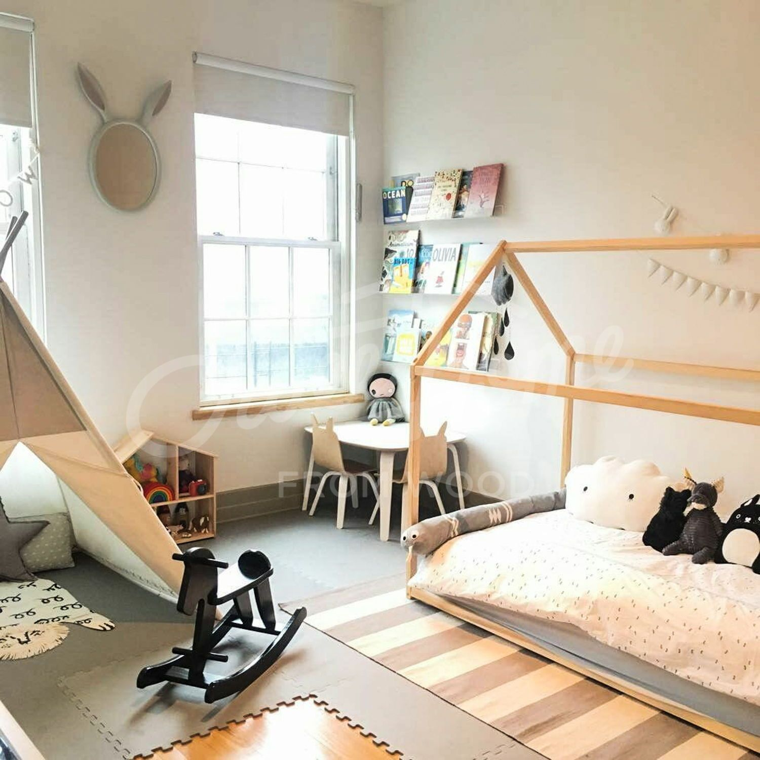 Toddler Bed House Shaped Bed Loft Bed Nursery Wood House Bed Home Montessori Toy Frame Bed Original Bed Home Bed Developing Toy Slats Kids Bed Frames Boys Bedroom Ideas 8 Year
