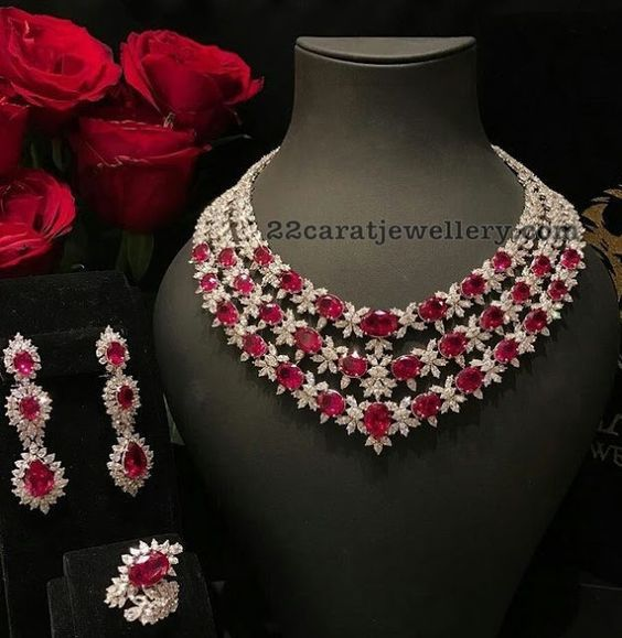 15+ Ruby and diamond jewelry set ideas in 2021